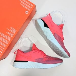 Nike Odyssey React 2 Flyknit Ember Glow/Red Orbit